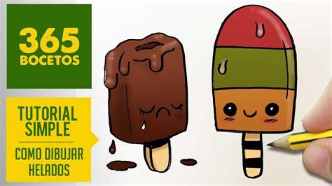imagenes de helados kawaii como dibujar paletas heladas kawaii paso a paso dibujos