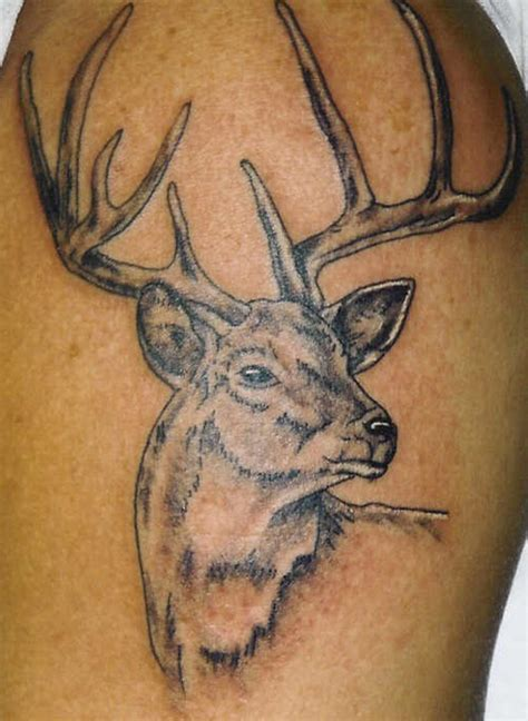 deer head tattoo designs tattoos deer design ideas