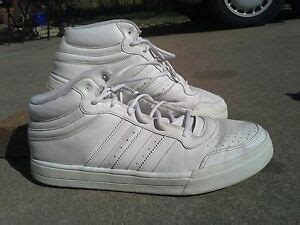 s adidas classic all white mid rise basketball shoes size 14 ebay