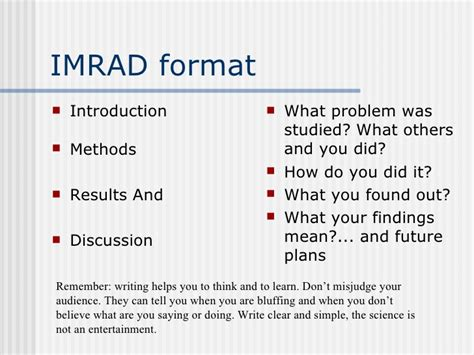 imrad format template technical research writing