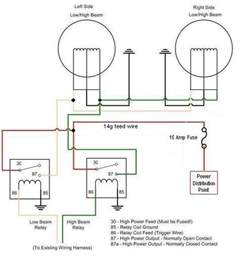 Car Headlight Circuit Diagram How To Headlight Relays Nastyz28