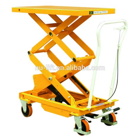 mobile manual hydraulic scissor lift table truck buy