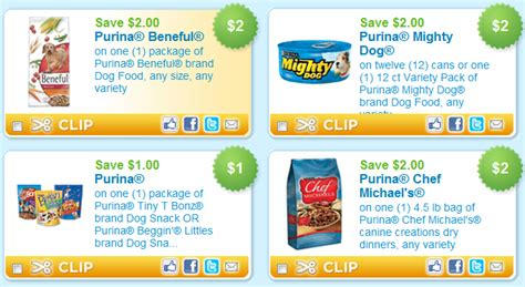 puppy chow coupons new printable purina pet food coupons