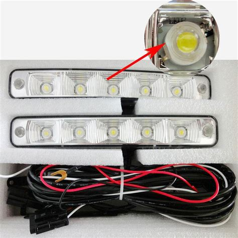 5 led universal car auto driving l fog light 12v led