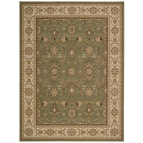5 x 9 rug nourison crown malti green 3 ft 9 in x 5 ft 9 in area rug 178107 the home depot