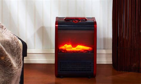 comfort zone fireplace heater comfort zone mini ceramic fireplace portable heater groupon