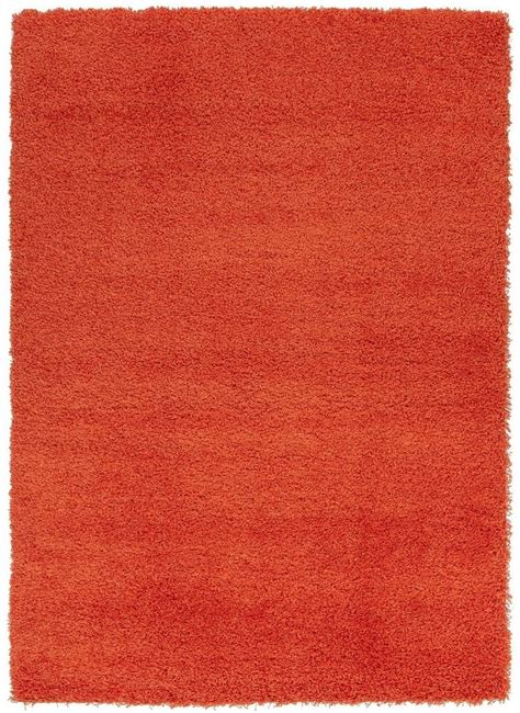 Cozy Area Rugs Ottomanson Cozy Shag Collection Orange Area Rug 4 11 Quot X6 10 Quot
