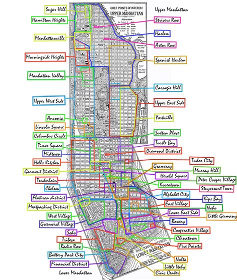 manhattan ny map map of manhattan