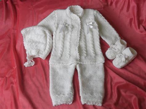 pantalones tejidos a palitos para recien nacidos lindo conjunto tejido a mano para bebe s 90 00 en
