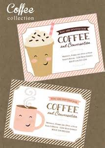 coffee printable invitation mommy party business meeting
