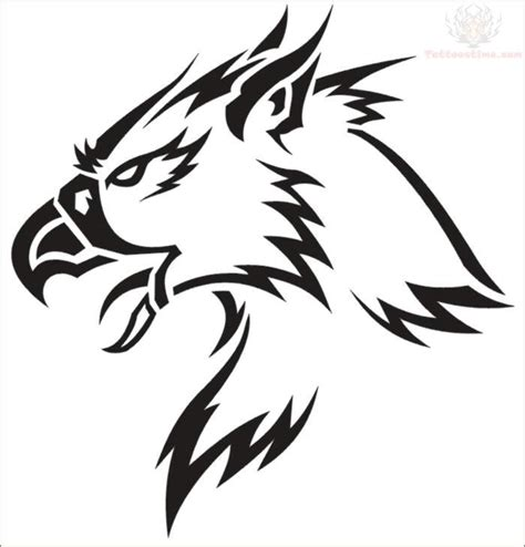 digital tattoo design digital griffin design