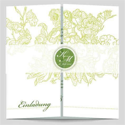 Hochzeitseinladung Zweisprachig by Monogramm Logo Edle Hochzeitseinladung