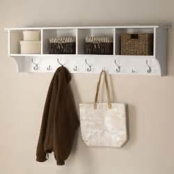 prepac 60 in wall mounted coat rack in white wec 6016