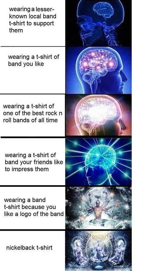 Brain Meme - expanding brain band t shirt expanding brain know your