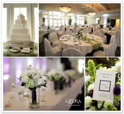 flower centerpieces with white beige and green green wedding theme green and purple