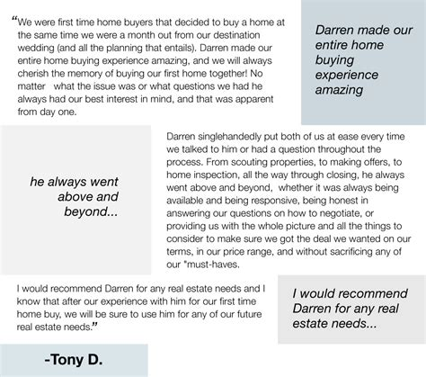 Testimonial Real your northern virginia real estate of choice
