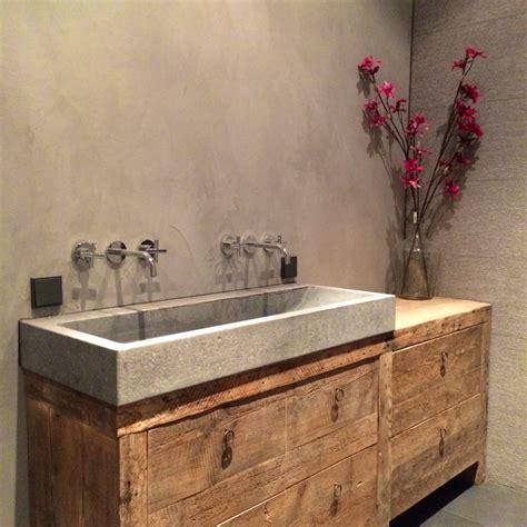 badkamer hout en betonlook stoere badkamer 9 inspirerende voorbeelden