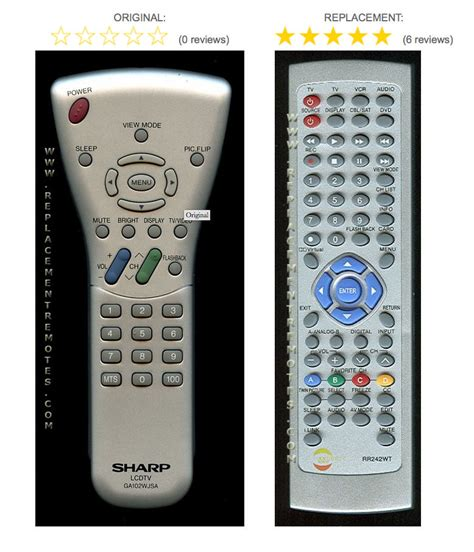 tv l replacement sharp aquos replacement tv remote control for