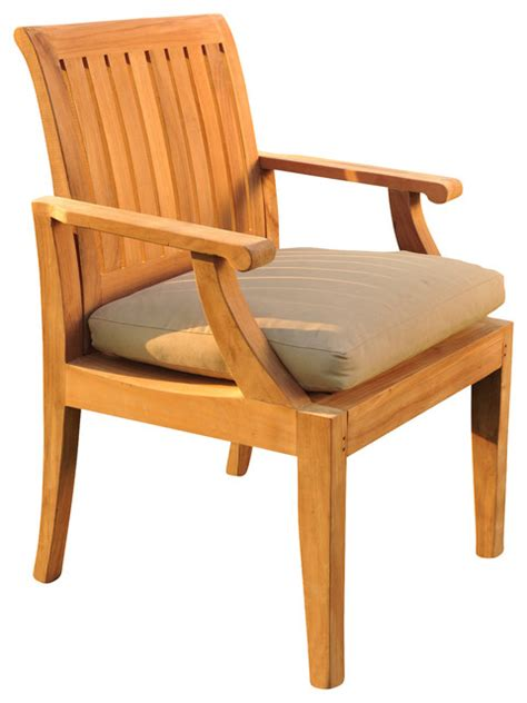 Outdoor Dining Chairs Modern Lagos Arm Chair Contemporary Outdoor Dining Chairs By Teak Deals