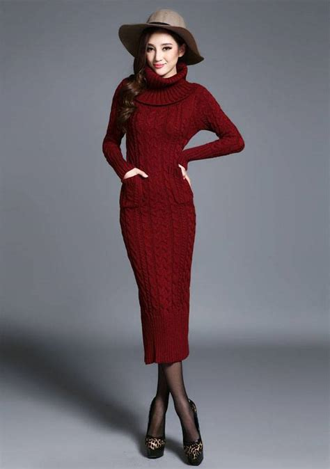 how to knit european style new womens 2014 thick knitwear knitting dress