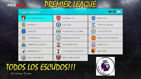 pes  premier league logos link youtube