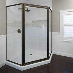 basco 160stclor deluxe neo angle shower enclosure with