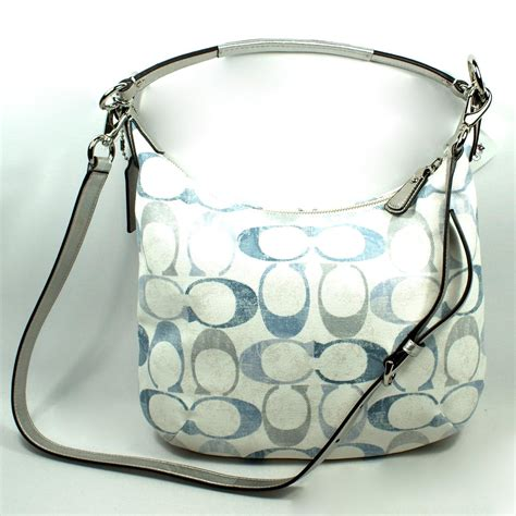 coach swing bag coach kristin embossed sequin signature hobo crossbody