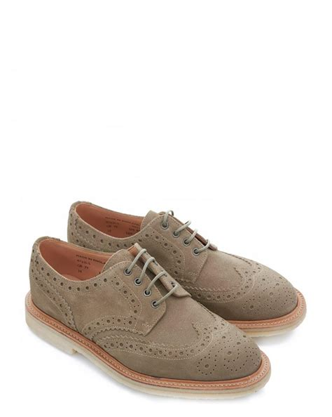 olly shoes sanders olly suede brogue shoes for lyst