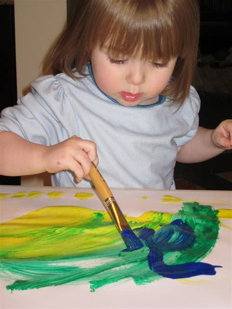 painting for toddlers introducing to children some tips to get it right