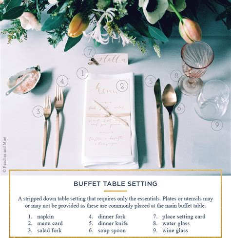 buffet table settings table setting a simple guide for every occasion