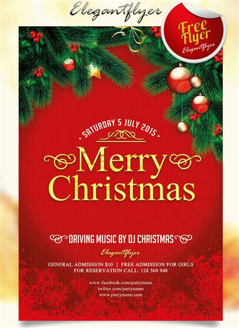 30 best new year and christmas free flyers psd templates