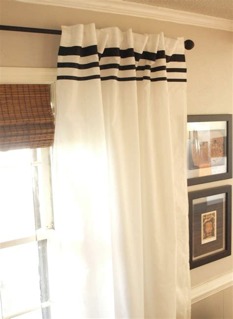 White Curtains Black Trim Inspiration White Curtains Drapes Rooms