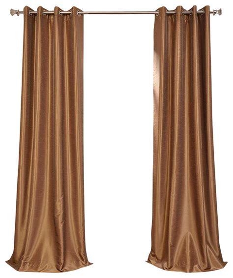 gold silk drapes flax gold grommet blackout vintage faux silk dupioni