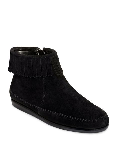 aerosoles linbo suede ankle boots in black black suede