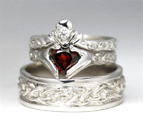 claddagh ring set claddagh wedding ring set our country wedding