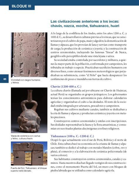 libro antes del incal sexto historia14 bloque 3 las civilizaciones anteriores a los incas chav 237 n nazca moche