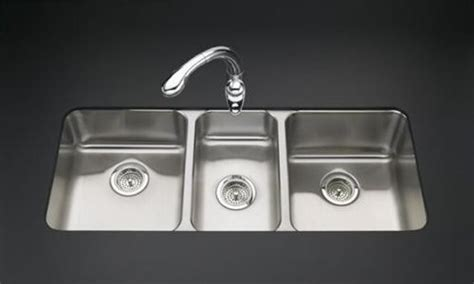 three basin kitchen sink kohler undertone basin undercounter kitchen sink contemporary kitchen sinks other