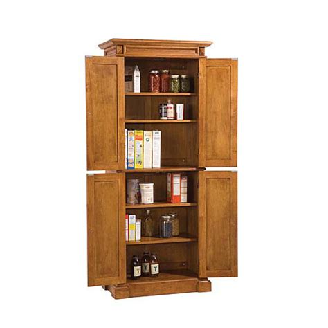 pantry wood pantry with oak finish 4 adjustable