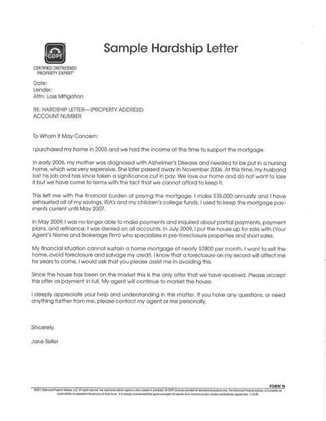 Hardship Letter Mortgage Loan Modification well sle of hardship letter letter format writing