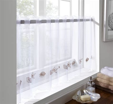 voile bathroom curtains voile cafe panel kitchen bathroom ready made net curtains