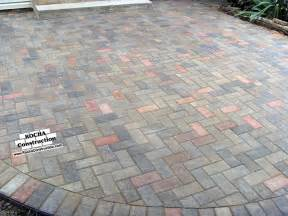 Pavers Or Concrete Patio Paver And Brick Patios Rocha Construction Silver Md