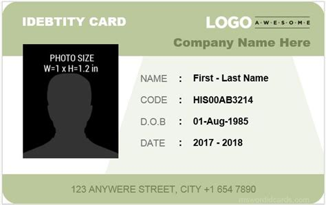 employee id card design inspiration 8 best company id card templates ms word microsoft word