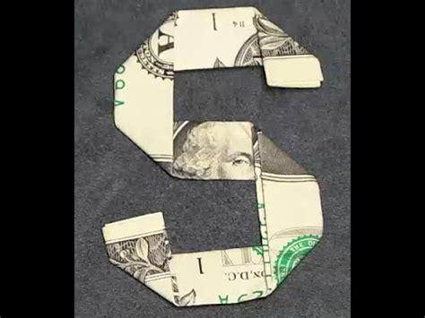 Origami Dollar Sign - fold origami dollar bill alphabet letter s