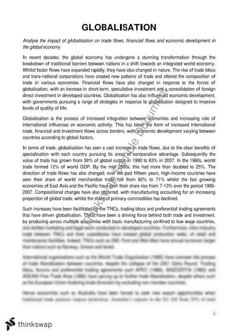 Globalisation Essay by Globalisation Of Essay