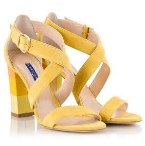 color sandals alberto guardiani yellow suede leather cross