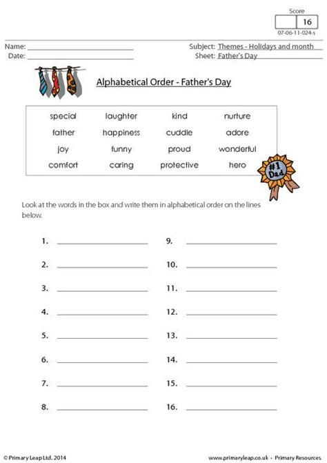 printable english worksheets uk primaryleap co uk father s day alphabetical order