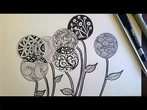 doodle beginner zentangle inspired flowers zendoodle beginner