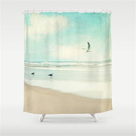 Beachy Shower Curtains Shower Curtain By Vintage Chic Images Style Shower Curtains By Etsy