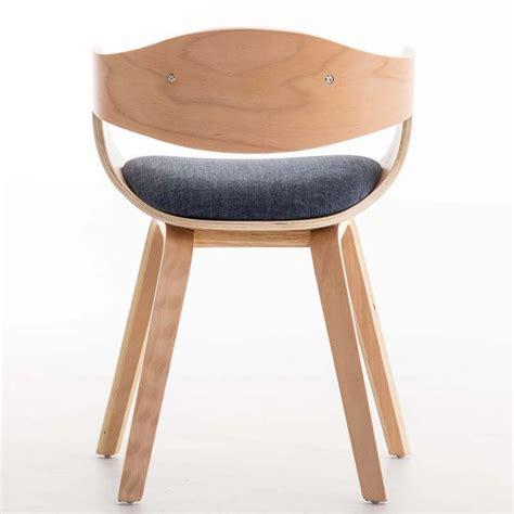 sillas de tela silla de comedor bolonia tapizada en tela color azul