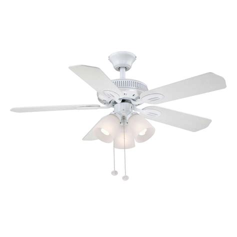 white ceiling fan hton bay glendale 42 in white ceiling fan am212 wh